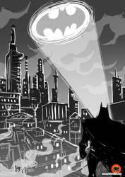Daily Sketching: Batmaaaan by AbigailRyder