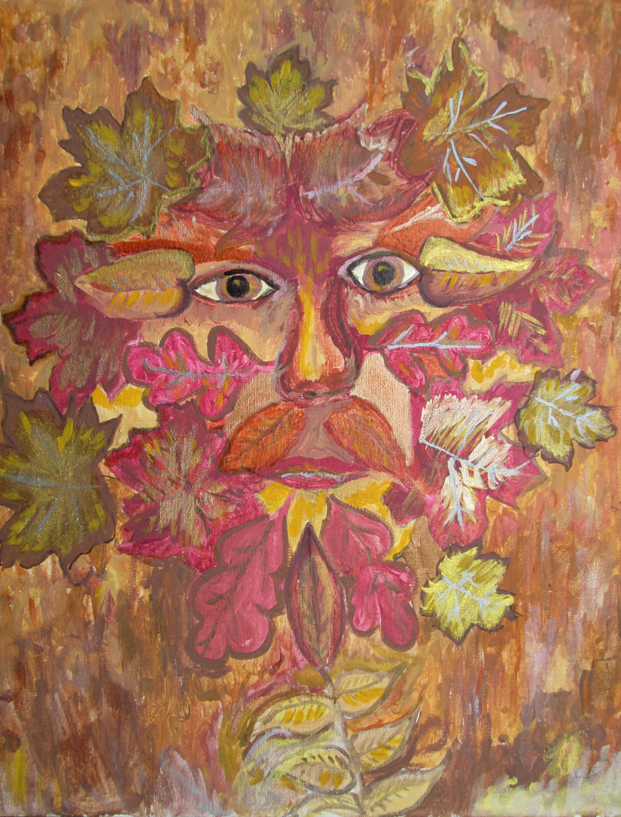 Autumn Green Man by aradia1015
