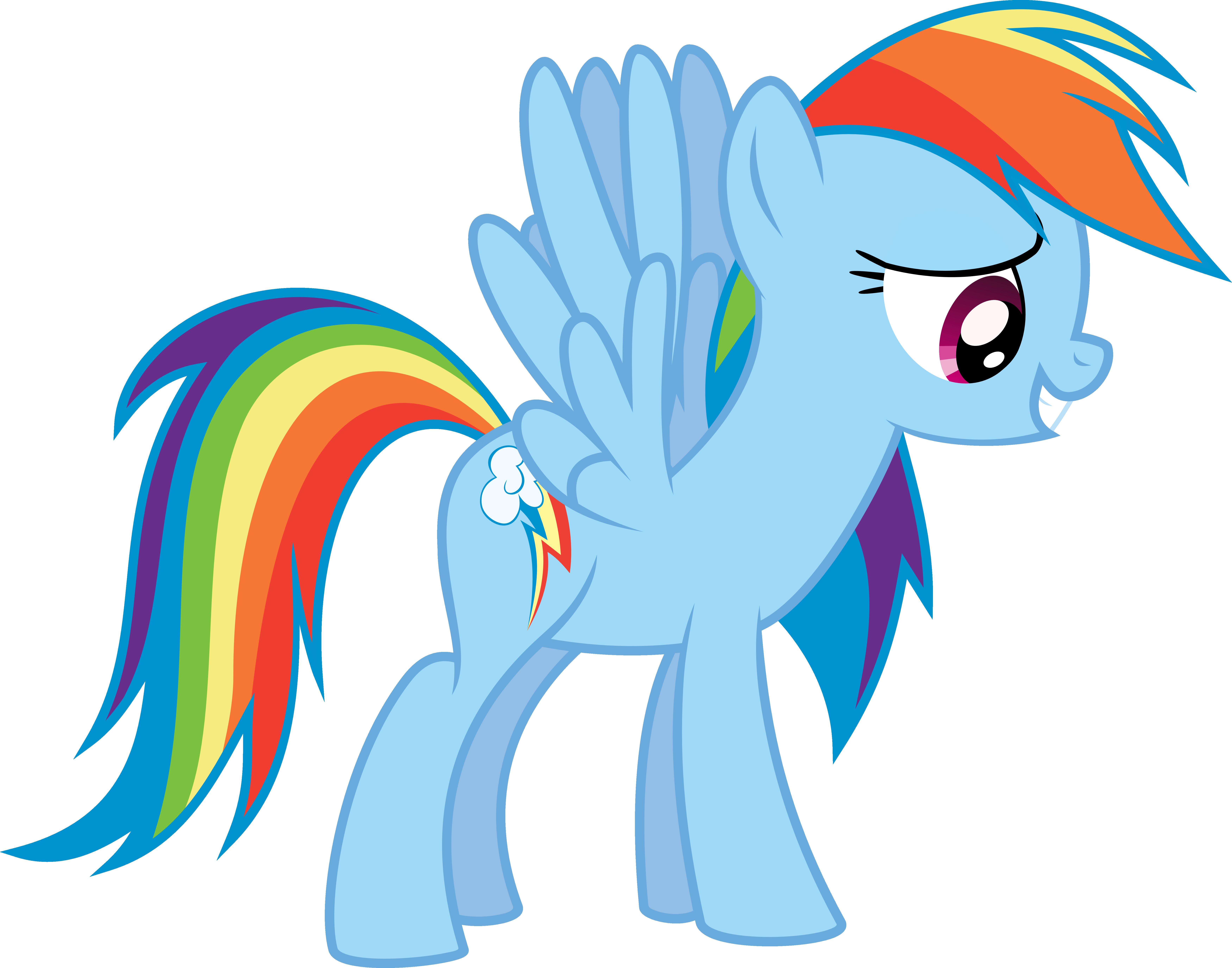 Rainbow Dash Vector by Kamyk962