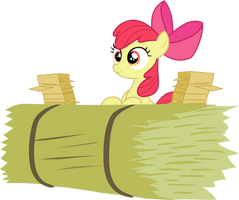 Applebloom is ready to work Vector by Kamyk962