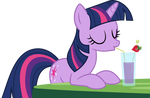 Drinking Twilight Sparkle Vector