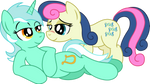 Lyra and Bonbon Vector