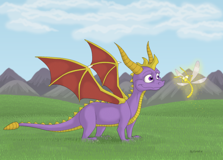 Tribute to the Spyro of Old by KarleKat