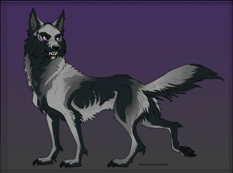 Skull Wolf Design