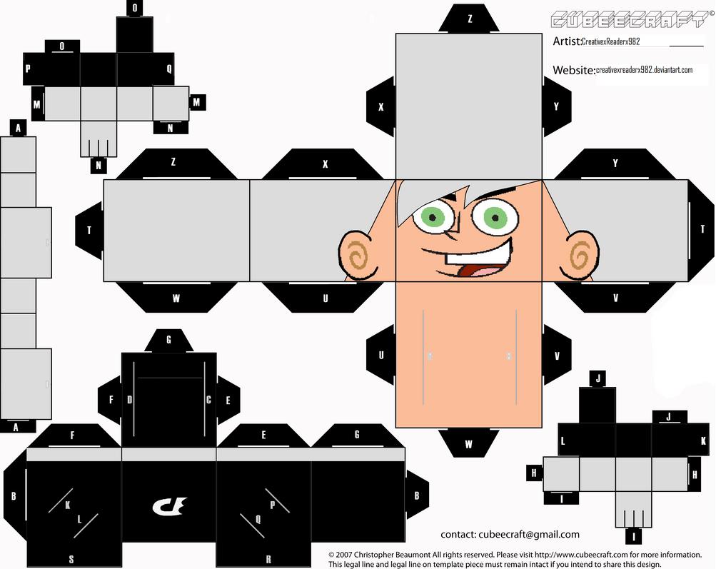 Danny Phantom Cubeecraft by HuntressxTimeLady