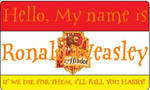 Ronald Weasley's Nametag by HuntressxTimeLady