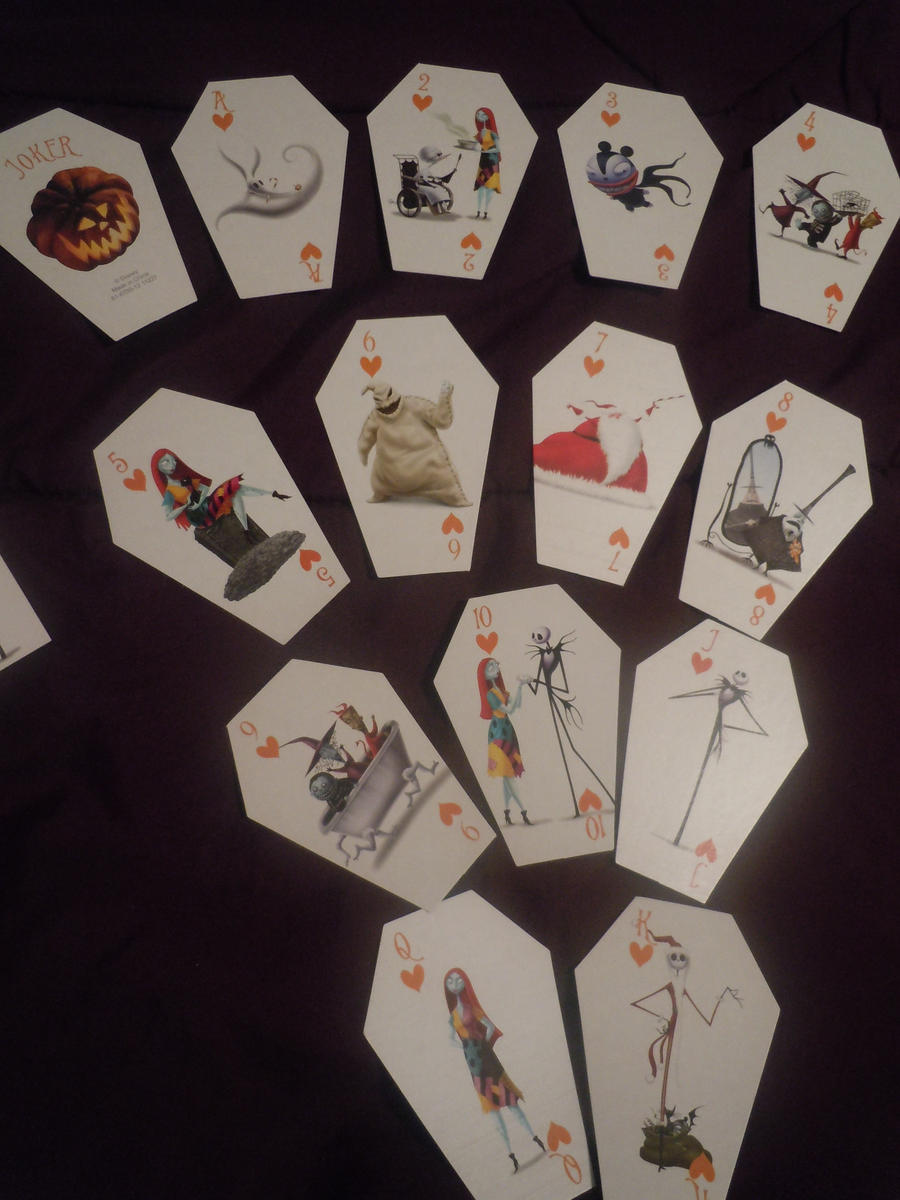 Nightmare Before Christmas' Playing Cards by HuntressxTimeLady on ...