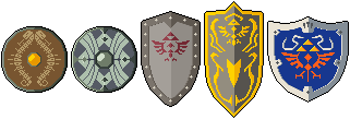 Breath of the Wild: Shields Set 1 by AsterianMonarch