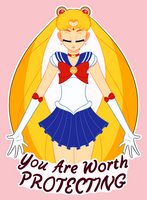Sailor Moon - You Are Worth Protecting by AsterianMonarch