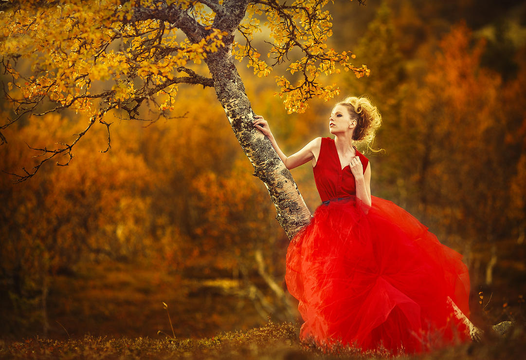 Lady in red by JenniSjoberg