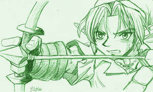 Link With a Bow