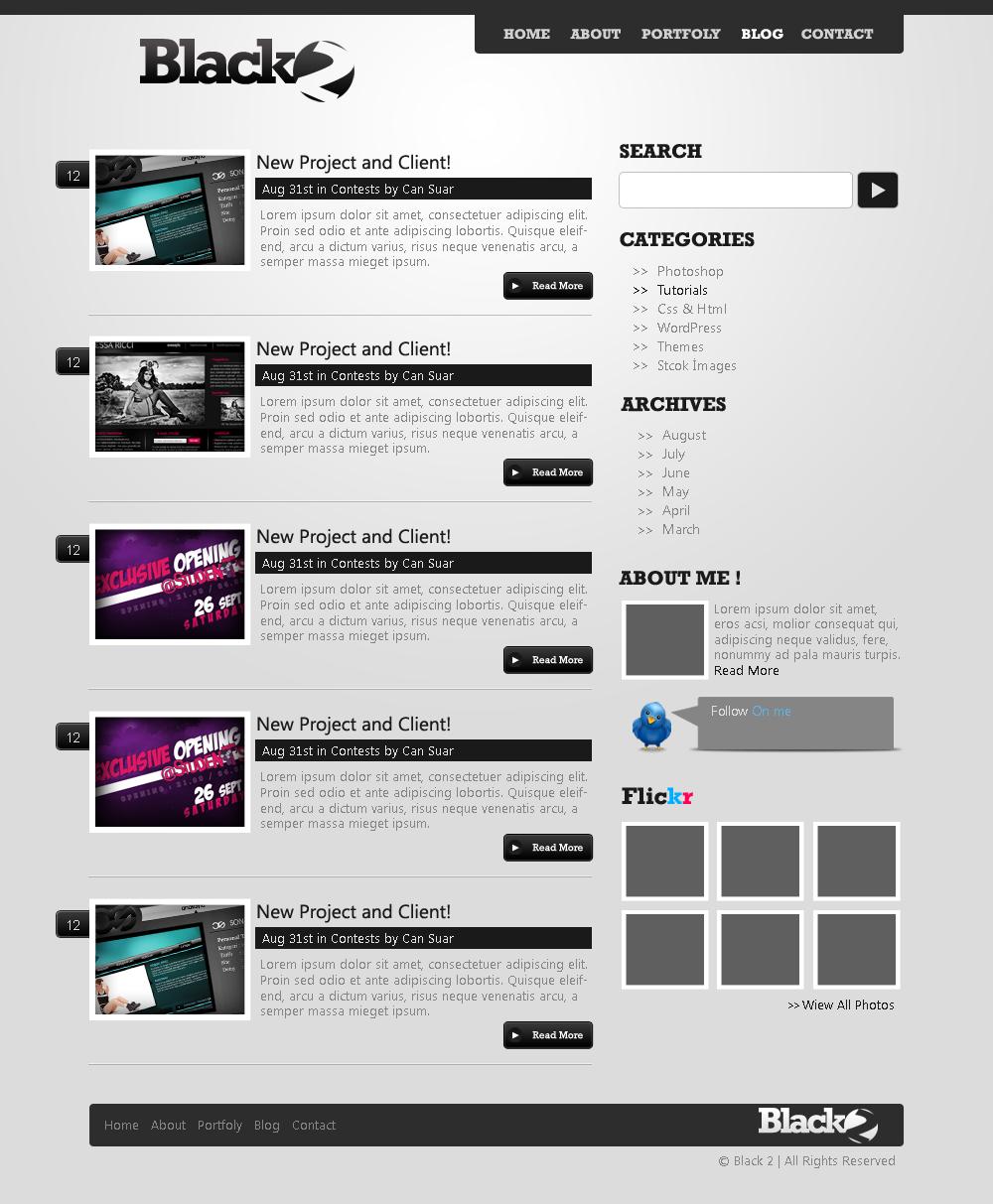 Black2 Wordpress theme-Blog