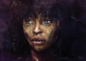 Back to Black - Afro Digital Art by ArtBySaki