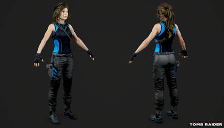 Shadow of the Tomb Raider - Lara Tactical Black by Crazy31139