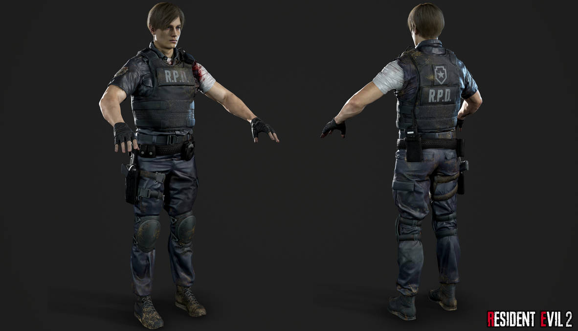 Re 2 Remake Leon R P D Injured By Crazy31139 On Deviantart