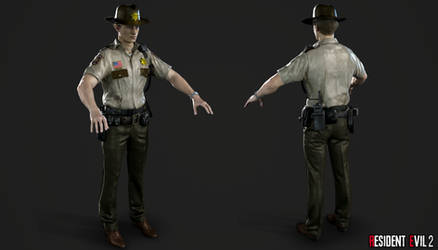 RE 2 Remake - Leon Arklay Sheriff by Crazy31139