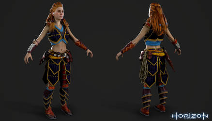 Horizon Zero Dawn - Aloy Carja Blazon Light by Crazy31139