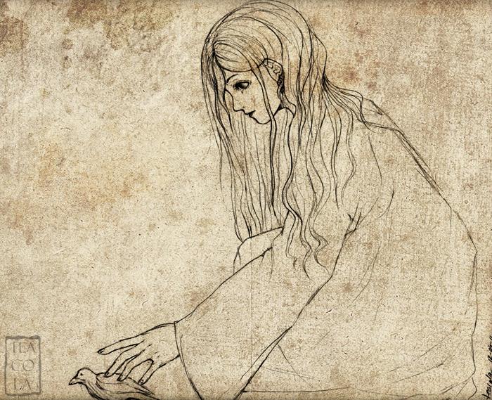 Hp sketch luna lovegood by teacola on deviantart for Luna lovegood coloring pages