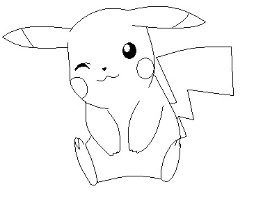 Pikachu Lineart 2 By Anime Bases Free On Deviantart
