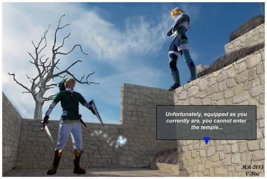 Link runs into Sheik again