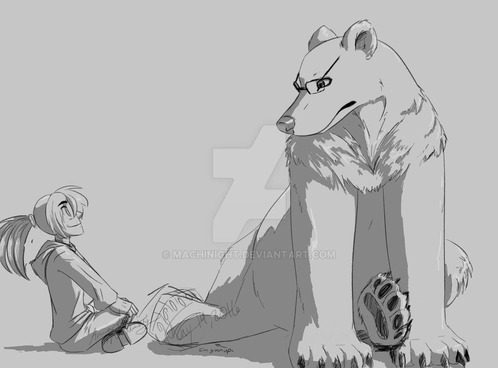 Bear and Dawn by Crazybandit1