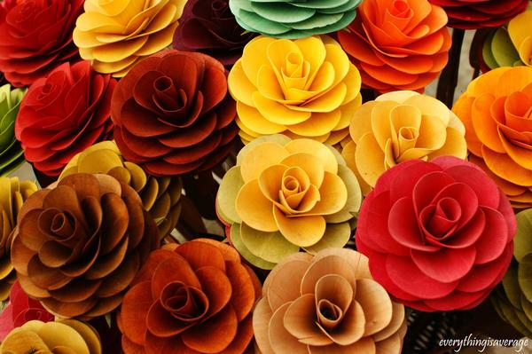 Wooden flowers by everythingisaverage