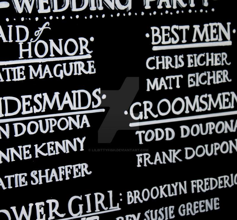 Wedding Program Chalkboard Sign