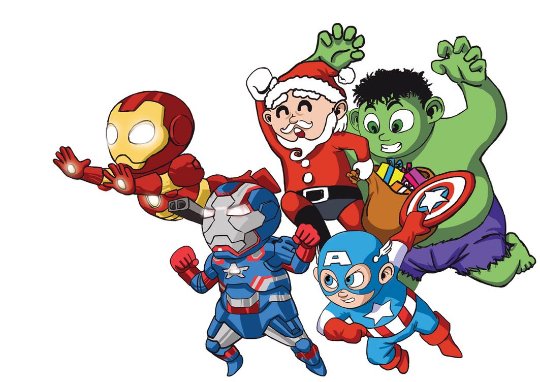 it's christmas, baby avengers assemble!deemonhunter360 on deviantart