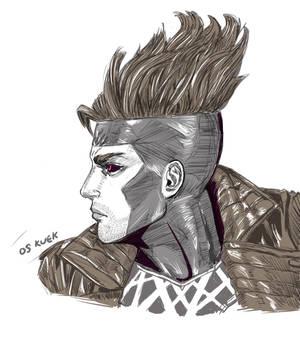 X-Men Gambit Head Sketch