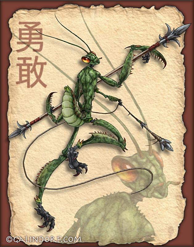Kythrick the Mantis Warrior by Galindorf