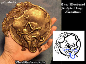 Thee Bluebeard Logo Medallion Sculpt