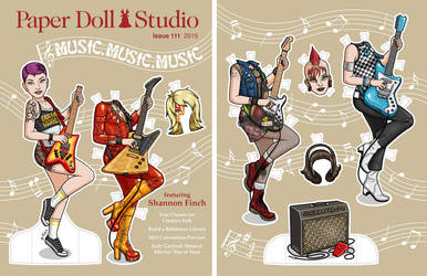 Paper Doll Studio - Guitar Goddess by Shannanigan