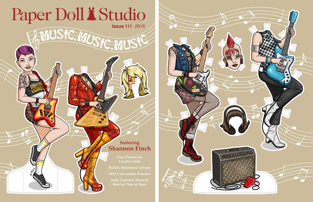 Paper Doll Studio - Guitar Goddess