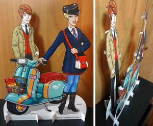 Mod, Mod Scooter Couple Paper Dolls