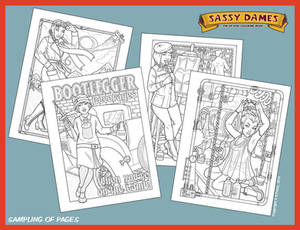 Sassy Dames : Coloring Book - Sample Pages