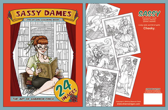 Sassy Dames : Coloring Book - Cover Art