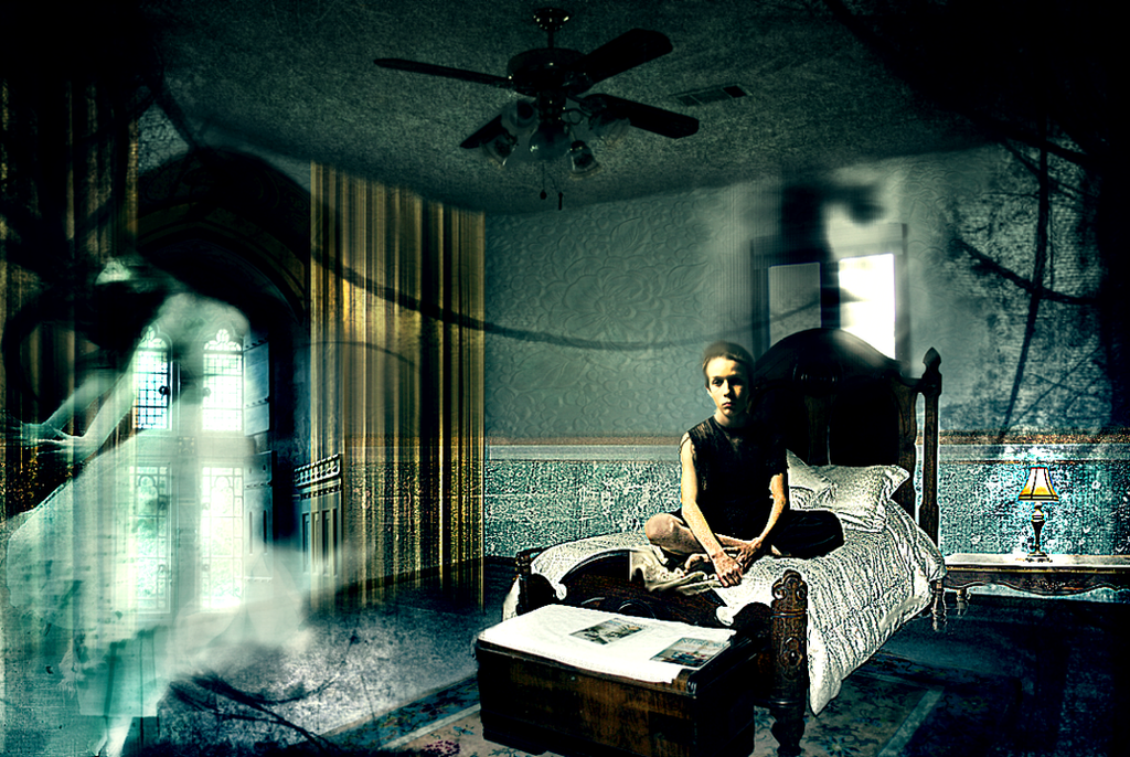 Ghost in my room by lolita artz on deviantart for My room wallpaper