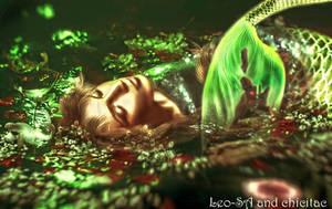 sleepy mermaid by Lolita-Artz