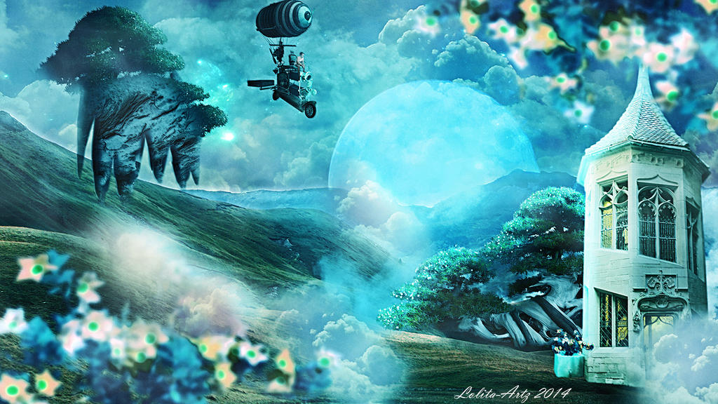 travel in the sky by Lolita-Artz