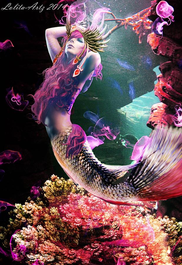 cotton candy mermaid by Lolita-Artz