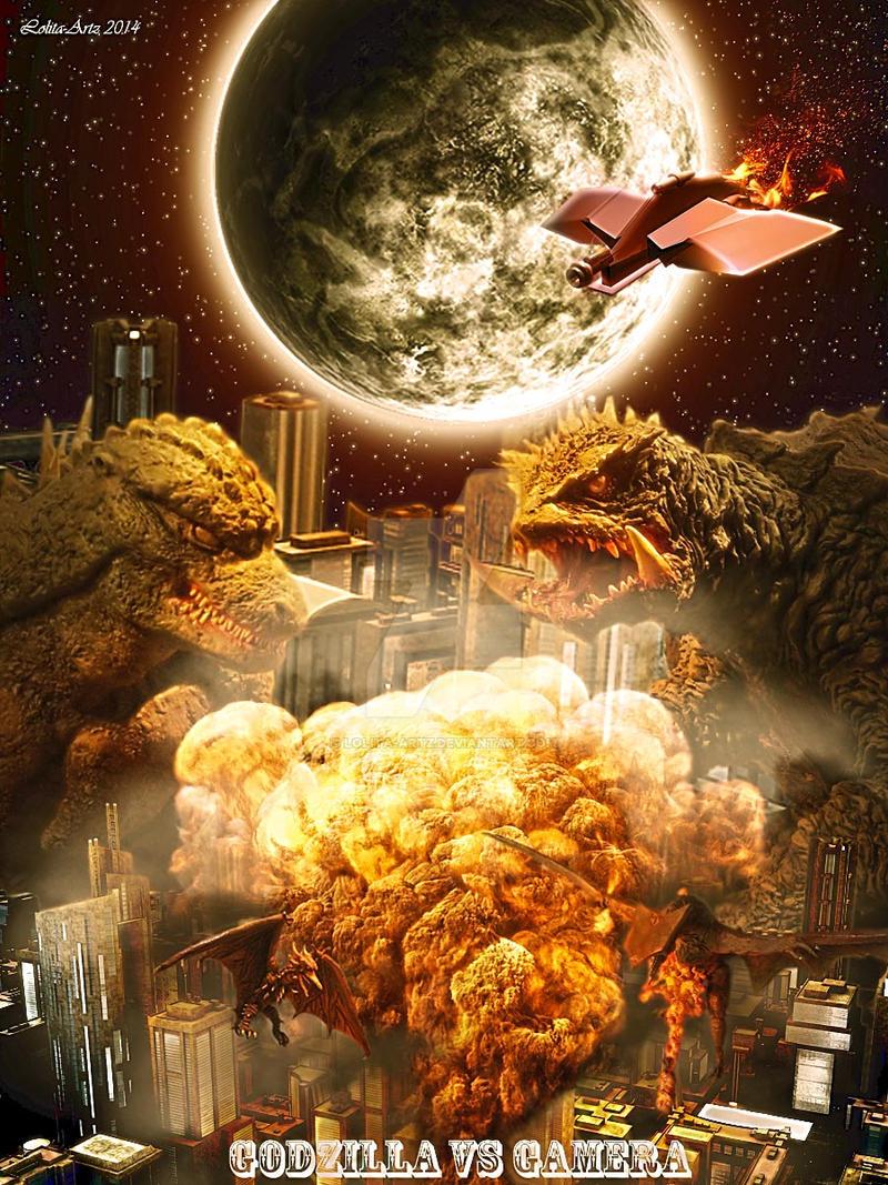 Godzilla VS Gamera by Lolita-Artz