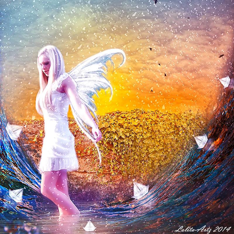 paper boat by Lolita-Artz