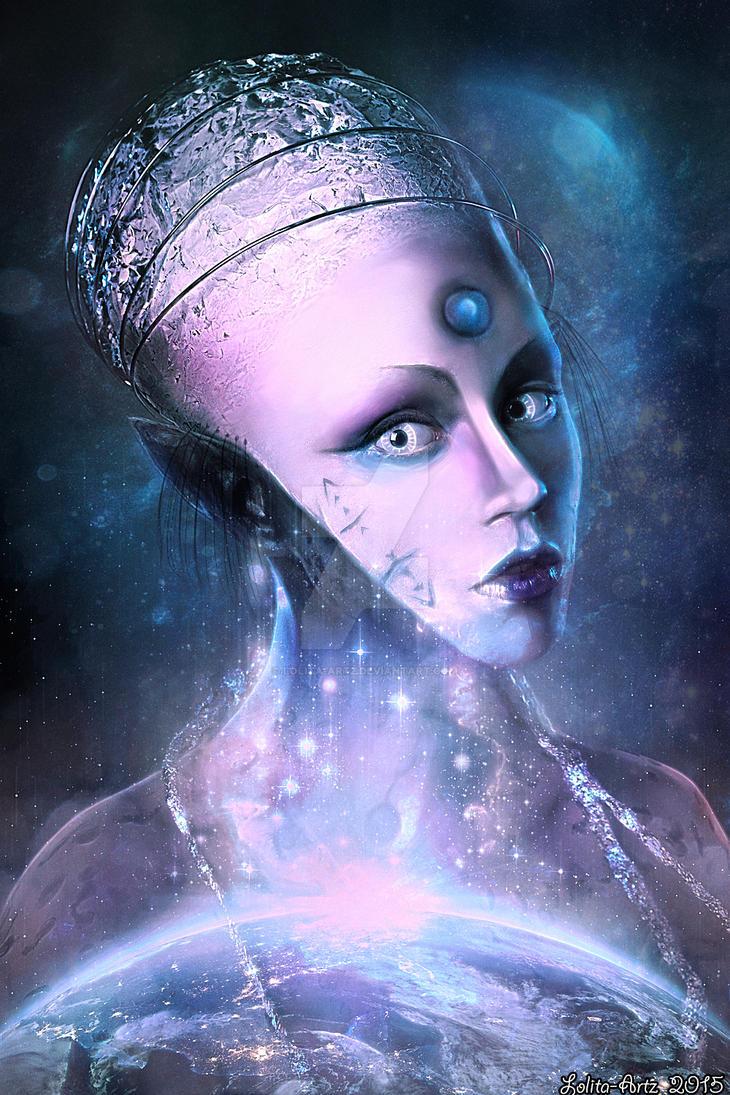 Sci-fi Portrait (PRINTS) by Lolita-Artz