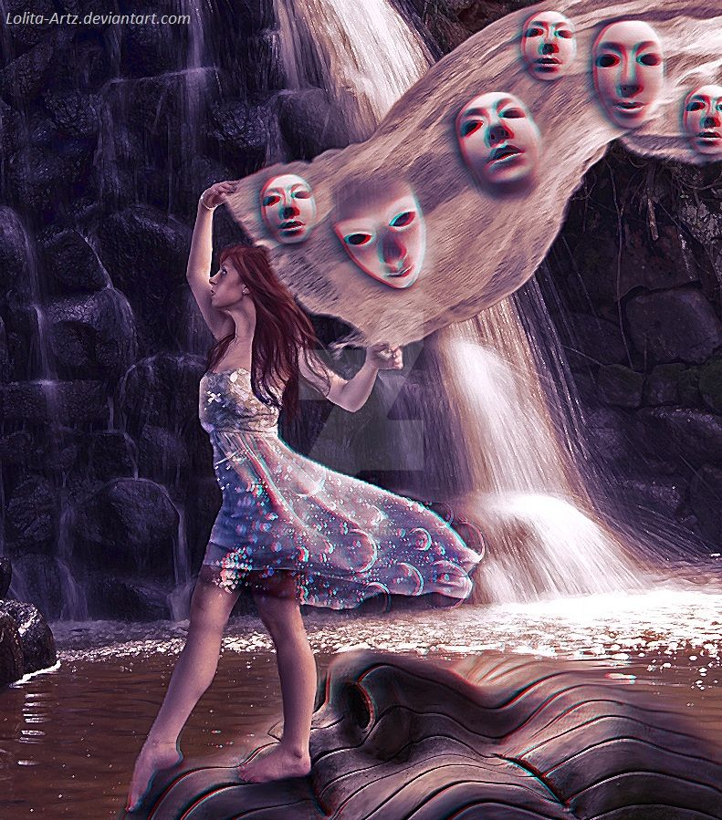 Beneath the masks I am wearing by Lolita-Artz