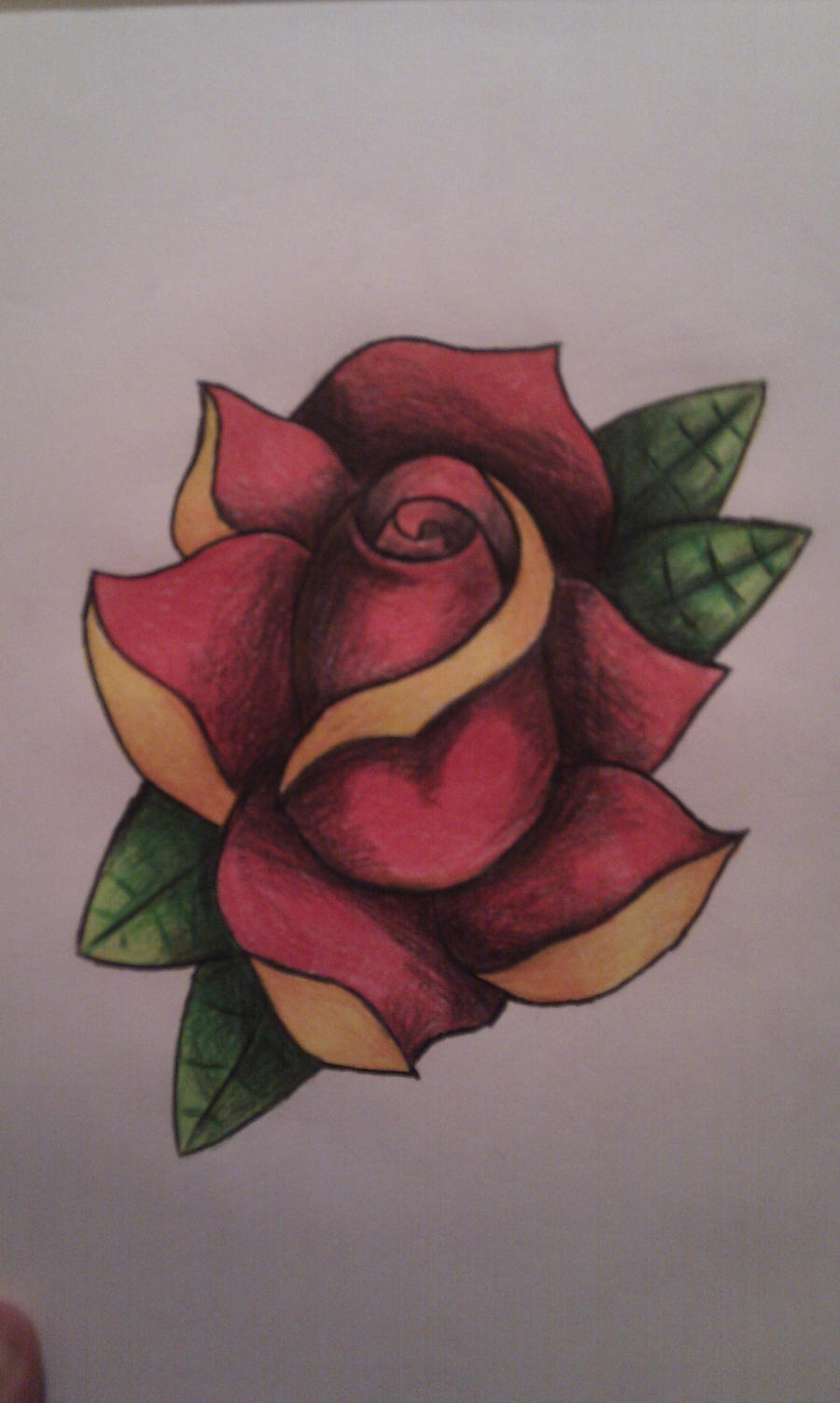 tattoo rose oldschool