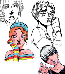 sketches doodles