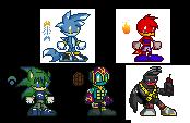 Icons 1-5 by glitchgoat