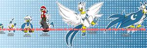 Digimon OC - Kamomon line by glitchgoat