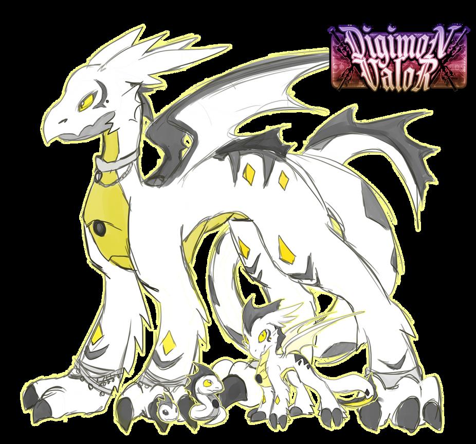 digimon valor the white dragon by glitchgoat on deviantart