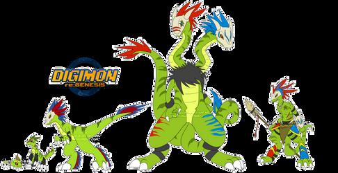 [digimon re:GEN] Iguamon Revamp by glitchgoat